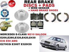 für Mercedes E-Klasse W210 Limousine Bremsscheiben SET HINTEN+Bremsbelag Satz +