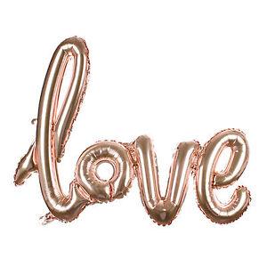 I Love You Letter Heart Foil Ballon Anniversary Wedding Valentines Party Decor