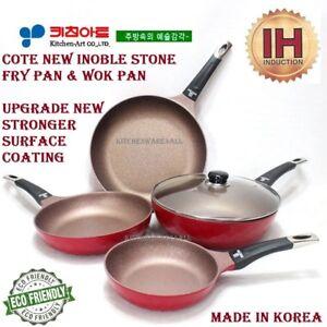 NEW COTE ULTRA INDUCTION fry pan wok pan NEW premium stone marble coating korea