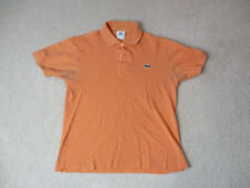 Lacoste Polo Shirt Adult Small Size 3 Orange Green Crocodile Rugby Mens *