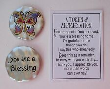 o Butterfly You're a blessing A TOKEN OF APPRECIATION Pocket charm Ganz