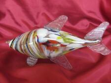 VINTAGE ITALIAN MURANO COLOR CRYSTAL GLASS DECORATIVE FISH FIGURINE