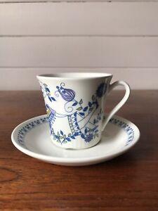 Vintage Figgjo Norway Lotte Turi Design Female Demitasse Coffee Cup and Saucer
