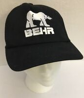 Behr Baseball Sports Hat Cap Archery Hunting Shooting Outfitter Black -RARE