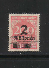 GERMANY 1923  SC 277   USED  INFLATION OVERPRINTED  STAMPS  # 14