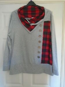 Ladies - NextMia - Smart Warm Patterned Long Sleeve Sweatshirt - Size 18