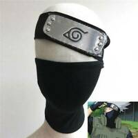 For Naruto Hatake Kakashi Cosplay Black Mask + Leaf Village Ninja Headband 2020