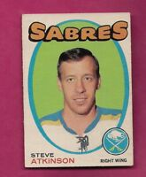 1971-72 OPC # 162 SABRES STEVE ATKINSON ROOKIE GOOD CARD  (INV# A6537 )
