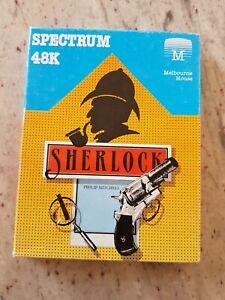 Sherlock Spectrum 48K tape game Melbourne House text adventure classic