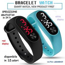 Orologio bracciale da polso uomo/donna/bambini unisex digitale sport vari colori