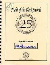 NIGHT OF THE BLACK SWORDS 25TH ANNIVERSARY NM! ALLEN HAMMACK TSR D&D