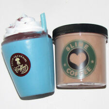 new 6 oz super stretchy coffe slime and squishy