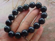 Certified Black Burma Natural A JADE Jadeite Beads Bangle Bracelet 手链 627218