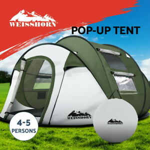 Weisshorn Instant Up Camping Tent 4-5 Person Pop up Tents Family Hiking Dome