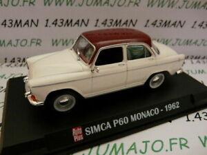 AP43 Voiture 1/43 IXO AUTO PLUS : SIMCA P60 Monaco 1962