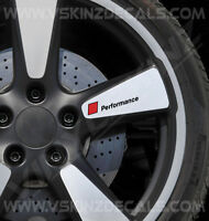 4x Audi Performance Logo Premium Cast Wheel Decals Stickers TT RS Quattro S-line