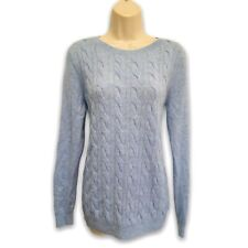 Talbots Thick Fluffy 100% Pure Cashmere Pullover Sweater Cable Knit Size L Large