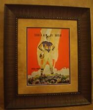 "VINTAGE TEXAS A&M COLLEGE FOOTBALL POSTER  FRAMED ""A&M VS BAYLOR"" OCT. 1937"