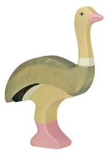 HOLZTIGER 80172: Ostrich, Collectable Wooden Toy NEW