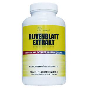 Pro Natural Olivenblatt Extrakt – 180 Kapseln 650 mg mit 20% Oleuropein pro Kaps