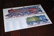 "GWR ""King"" Class Locomotive Sectional Diagram, 25 x 37 cm Colour Poster."