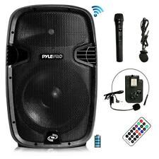 Pyle Wireless & Portable Bluetooth Loudspeaker - Active PA Speaker System Kit, B