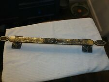 "Vintage Amerock Monterey Antique Brass Bathroom Towel Bar / Rack 24 3/4"""