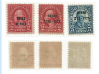 US Stamps, 1928, 646, 647, 648, MNH, OG, F-VF, Fresh, Bright Colors