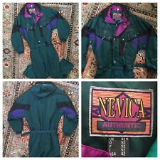 Vintage Nevica Ski Snow Suit 80s 90s Neon Green One Piece Mens Size UK 42M US 42