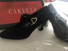 Carvela  Retro Shoe With Gold Buckle Heart