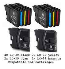10x LC-39 (LC39) ink cartridges for Brother DCPJ140 J315 MFC J265 J415 printers
