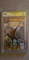 """STAN LEE MEETS SPIDER-MAN 1 CGC 9.8 SS SIGNED BY STAN """"THE MAN"""" LEE MINT RARE"""
