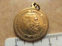 Vergoldete Medaille Friedrich II.Wilhelm II Kaiser von Preußen