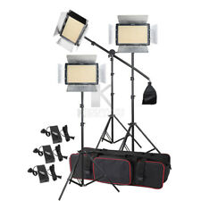 3x Yongnuo YN1200 CRI95 Bi-color 3200-5500K Led Video Fill Light Lighting Kit