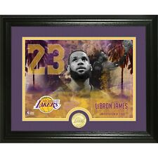 "NBA Highland Mint LeBron James Los Angeles Lakers 13"" x 16"" Commemorative Bronze"