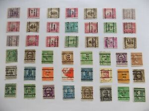 U S   Collection of all used PRECANCEL DEFINITIVES -7-22-F--We combine shipping