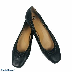 SOFFT Women's Slip On Flats Size 9M Black Leather Upper Skid Resistant