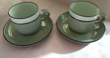 Denby Stonewear 2 Cups and Saucers Patteren Romance