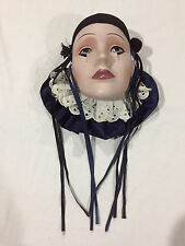 Ceramic Wall Hanging Jester Masks Harlequin Face Clown Mardi Gras