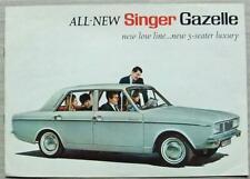 SINGER GAZELLE Car Sales Brochure c1967 #7510/H