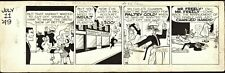 CHESTER GOULD SIGNED 1949 DICK TRACY STRIP ORIGINAL ART-7-11-1949!