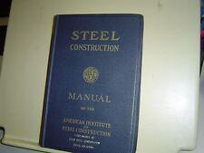 STEEL CONSTRUCTION MANUAL 5th Fifth Edition 1959 FLINT STEEL CORP TULSA OKLAHOMA