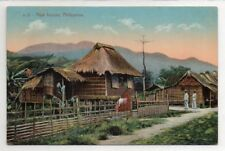 PHILIPPINES, NIPA HOUSES A 15 Vintage Post Card Nice 1900's No Bends