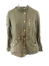 GUESS Womens Jacket Coat XS Green Viscose Hooded