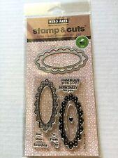 Hero Arts Clear Stamp & Cut Handmade Tags Thin Metal Die Cut Set DC139 NEW