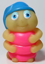 LOOSE Wendy's 1989 Playskool Glo Friends SNUGBUG BRIGHT PINK Glow Worm Snug Bug