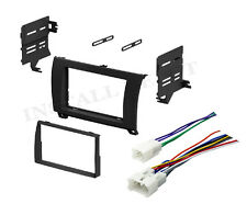 2007-2011 TOYOTA TUNDRA SEQUOIA DOUBLE DIN DASH KIT & WIRE HARNESS STEREO RADIO