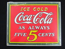 "Porcelain Coca-Cola ""Ice Cold"" Sign - NEW"