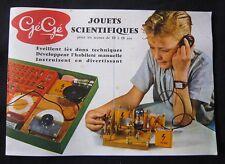 U798 GEGE CATALOGUE 1961 JOUETS SCIENTIFIQUES
