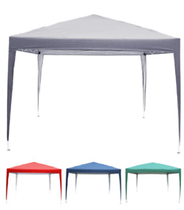 Pavillon 3x3m Faltpavillon Popup Partyzelt Gartenzelt UV-Schutz 50+ Oxford 210D